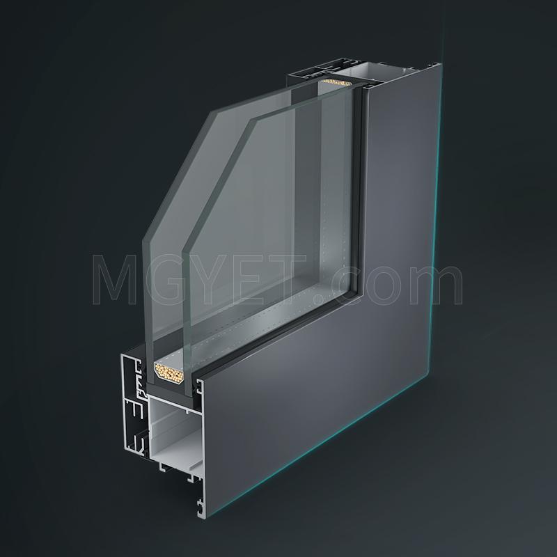 47.8mm断桥卡扣式玻扇 无缝焊接门窗